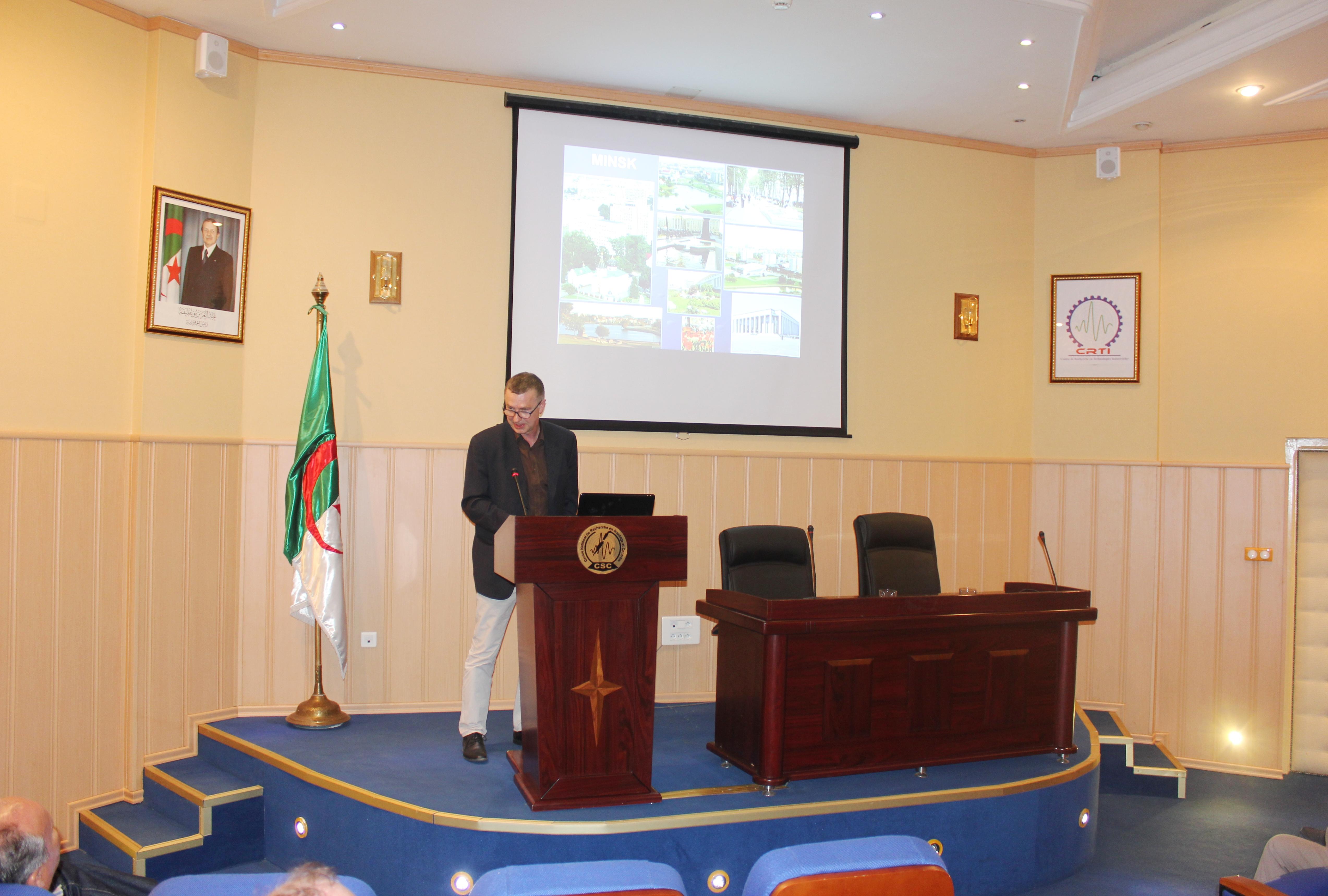 Visite de travail au CRTI d'un représentant de l'Académie Nationale des Sciences de Biélorussie